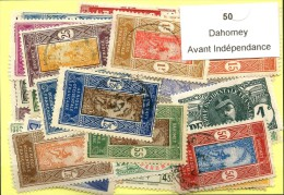 50 Timbres Dahomey Avant Indépendance