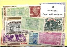 50 Timbres Mauritanie Avant Independance - Non Classés