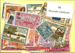 50 Timbres Nouvelle Caledonie