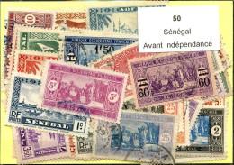 50 Timbres Sénégal Avant Independance