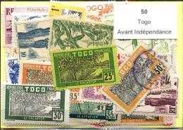 50 Timbres Togo Avant Indépendance