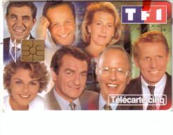 FRANCE PRIVEE GN461  5U PRESENTATEURS  TF1 TV TELEVISION NSB MINT IN BLISTER