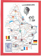 LUXEMBOURG 1963 CARTE GEOGRAPHIQUE CARTE EN TRES BON ETAT - Postcards