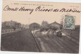 62 ARRAS *L'Intérieur De La Gare  (Pris Du Pont De Ronville) * - Arras