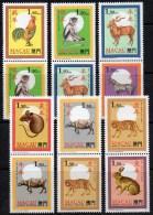 6xZD Neujahr Tierzeichen CHINA 1995 Macao 832-843 6xPaar S1-6 ** 18€ New Year Cock,dog,tigre,ox,hare,pig Se-tenant Macau - Macao
