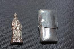 "WW1 - ""Petite Vierge De Poilu"" Dans Sa Boite De Zinc D´origine - Sainte Marie - WWI - 1914-18"