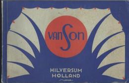 PUBLICITE PUBLICITEIT VAN SON HILVERSUM HOLLAND DRUKINKTEN JAREN '30 INKTS ... STEMPEL HURLIMANN BRUXELLES - Livres, BD, Revues