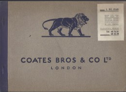 PUBLICITE PUBLICITEIT CATALOGUE A SELECTION OF MODERN INKS FOR ARTISTIC MODERN PRINTERS COATES BROS & CO LTD LONDON - Livres Anciens