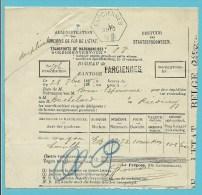 Zeshoekige Stempel FARCIENNES (blauw) Op 4/10/1888 Op Dokument - Unclassified