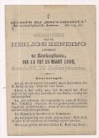 Gedachtenis Heilige ZENDING - Zerkegem - 13 Tot 25 Maart 1880 - Religion & Esotérisme