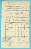 Zeshoekige Stempel FARCIENNES (blauw) Op 20/03/1889 Op Dokument - Unclassified
