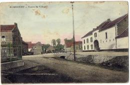 CP Remicourt - Centre Du Village - Couleur ( RARE ) - état Moyen - Animée - Remicourt
