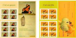 """2004 - Lot De 2 Carnets YT BC 3634-3635 1 Carnet De 10 Timbres 0.50 YT 3635 """"c'est Un Garçon"""" 1 Carnet De 10 Timbres Y0. - France"""