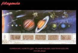 ASIA. COREA DEL NORTE MINT. 1992 PLANETAS DEL SISTEMA SOLAR. HOJA BLOQUE - Korea, North