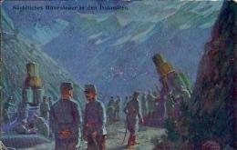 Postcard Militaria RA001868 - Nächtliches Höhenfeuer In Den Dolomiten - Guerre 1914-18