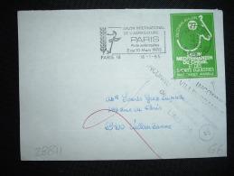 LETTRE VIGNETTE SALON MEDITERRANEEN DU CHEVAL MARSEILLE 77 OBL.MEC.16-1-1985 PARIS 18 (75) + GRIFFE VILLEURBANNE (69) - Covers