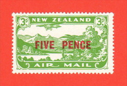 NZL SC #C4 MLH  1931 Plane Over Lake Manapouri W/surcharge, CV $20.00 (H) - Airmail