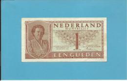 NETHERLANDS - 1 GULDEN - 08.08.1949 - Pick 72 - Queen Juliana - 2 Scans - [2] 1815-… : Kingdom Of The Netherlands