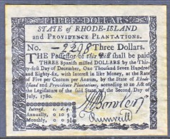 U.S. COLONIAL RHODE  ISLAND    FACIMILE  ON  PARCHMENT  PAPER - Colonial Currency (18th Century)