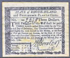 U.S. COLONIAL RHODE  ISLAND    FACIMILE  ON  PARCHMENT  PAPER - Valuta Coloniale (XVIII Secolo)