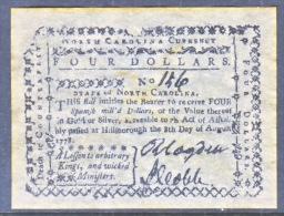 U.S. COLONIAL NORTH  CAROLINA    FACIMILE  ON  PARCHMENT  PAPER - Colonial Currency (18th Century)