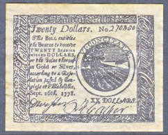 U.S. COLONIAL PHILADELPHIA    FACIMILE  ON  PARCHMENT  PAPER - Colonial Currency (18th Century)
