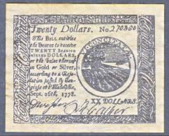 U.S. COLONIAL PHILADELPHIA    FACIMILE  ON  PARCHMENT  PAPER - Valuta Coloniale (XVIII Secolo)