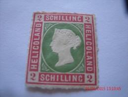 HELIGOLAND, MICHEL# 3, 2 S ,  ROSE & PALE GREEN, MINT NG - Héligoland