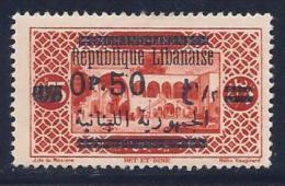 Lebanon, Scott # 102 Mint Hinged Biet Et Dine, Surcharged, 1929 - Lebanon