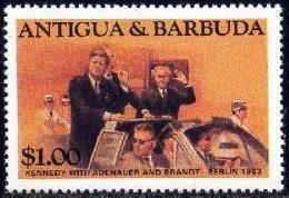 President John F. Kennedy In Berlin, Antigua Stamp SC#823 MNH - Antigua Et Barbuda (1981-...)