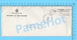 Asunto Oficial ( Ministerio De Comunicaciones, Cover Habana Cuba 1960, To USA ,  Never Open) Recto/Verso - Lettres & Documents