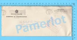 Asunto Oficial ( Ministerio De Comunicaciones, Cover Direction De Correas Oficina Filatélica 1959, Never Open ) Recto/Ve - Lettres & Documents