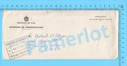 Asunto Oficial ( Ministerio De Comunicaciones, Cover Direction De Correas Oficina Filatélica 1959 ) Recto/Verso - Cuba