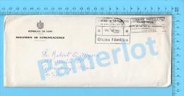 Asunto Oficial ( Ministerio De Comunicaciones, Cover Habana Cuba 19, + Proteje La Industria Nacional , To USA , ) Recto/ - Lettres & Documents
