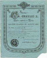 Sacre de S.M. CHARLES X en l'Eglise cath�drale de Reims / billet d'acc�s, le Grand Ma�tre des C�r�monies de France