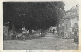 Chalençon (Ardèche) - Avenue Des Tilleuls - Vieux Tacot Et Pompe à Essence - Cliché Minassian - Collection Vibre - La Louvesc
