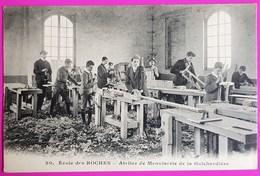 Cpa 20 Ecole Des Roches Atelier De Menuiserie De La Guichardière Belle Animation Verneuil Sur Avre 27 - Verneuil-sur-Avre