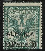 LEVANTE ALBANIA 1902 10 PA SU 5 C MNH - Bureaux Etrangers
