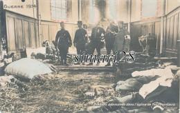 GUERRE 1914 - BLESSES ALLEMANDS DANS L'EGLISE DE NEUFMOUTIERS - War 1914-18