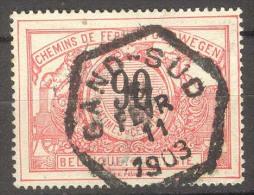 België/Belgique OBP SP/CF Nr TR25 Afgestempeld/cachet Gand-Sud  .Zie/voir Scan - Bahnwesen