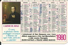 CAL183 - CALENDARIETTO 1980 - S. GASPARE DEL BUFALO - Calendari