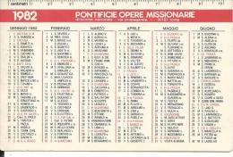 CAL193 - CALENDARIETTO 1982 - PONTIFICIE OPERE MISSIONARIE - Formato Piccolo : 1981-90
