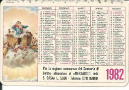 CAL194 - CALENDARIETTO 1982 - SANTUARIO DI LORETO - Formato Piccolo : 1981-90