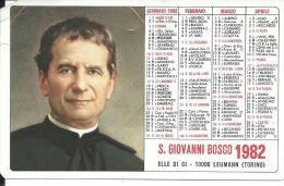 CAL197 - CALENDARIETTO 1982 - S. GIOVANNI BOSCO - Formato Piccolo : 1981-90