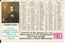 CAL200 - CALENDARIETTO 1983 - S. GASPARE DEL BUFALO - Formato Piccolo : 1981-90