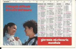 CAL209 - CALENDARIETTO 1985 - PONTIFICIE OPERE MISSIONARIE - Formato Piccolo : 1981-90