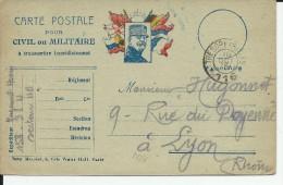 """1915 - CARTE FM Du SP 116 TYPE """"JOFFRE"""" - Marcophilie (Lettres)"""