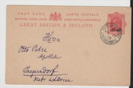 BD039a BRIT. LEVANTE - / Mi.Nr. P3 (1908) Brit. P.A. Constantinopel 1913 Nach Österr. Schlesien - British Levant