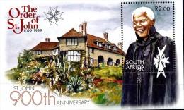 RSA 1999 ORDRE DE SAINT JOHN - BLOC MNH NEUF LUXE ** - AFRIQUE DU SUD  -  Nelson Mandela. - South Africa (1961-...)