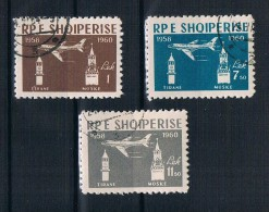 Albanien 1960 Flugzeuge Mi.Nr. 612/14 Kpl. Satz Gestempelt - Albanië
